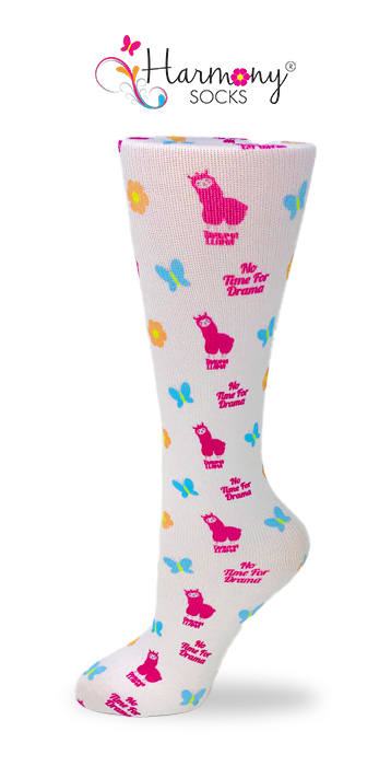 Nurse Llama Knee High Compression Socks By Harmony - Harmony Surgical Designs