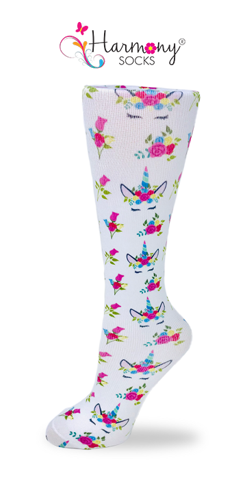 Unicorn Princess Knee High Compression Socks By Harmony - Harmony Surgical Designs