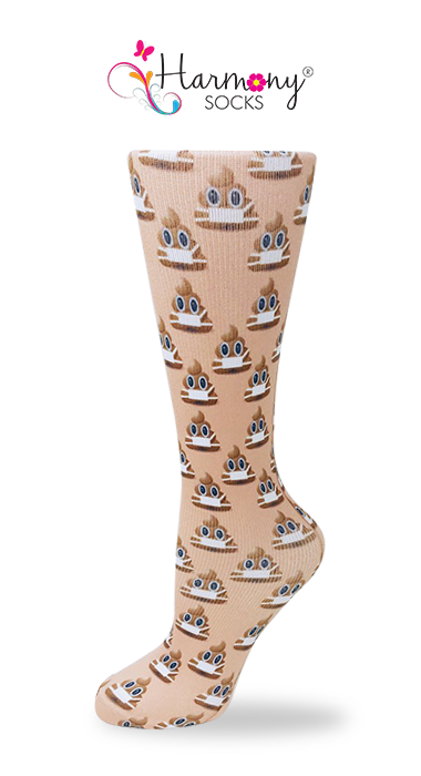 CODE BROWN 💩 Knee High Compression Socks By Harmony - Harmony Surgical Designs