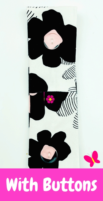 Milk Cow Bloom Harmony Headband™ With Buttons