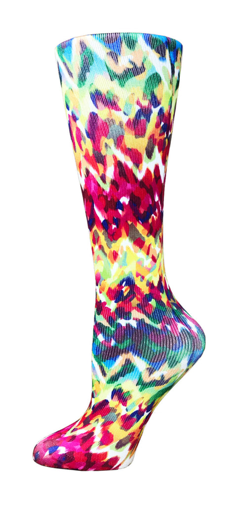 Animal Fire Knee High Compression Socks - 10-18mmHg Knit