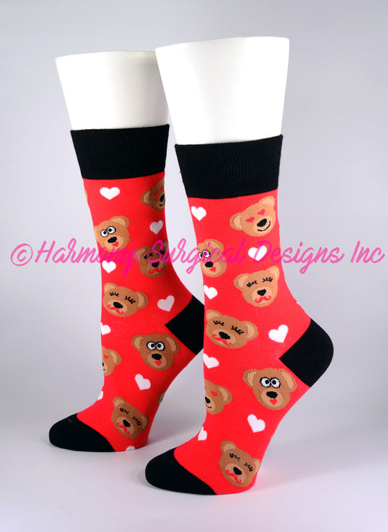 Honey Bear Crew Socks - Harmony Surgical Designs
