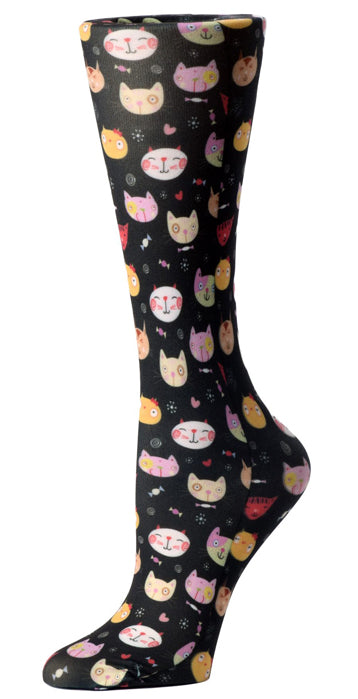 Stray Cats Knee High Compression Socks - 10-18mmHg Knit