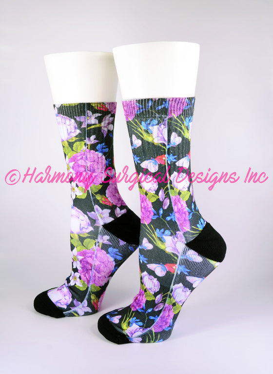 Cute Floral Crew Socks