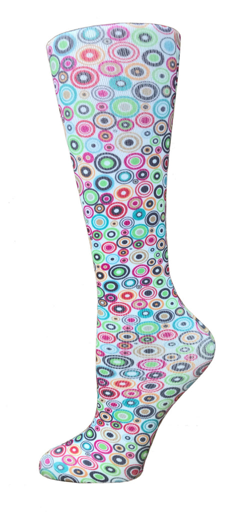 Disco Party Knee High Compression Socks - 10-18mmHg Knit