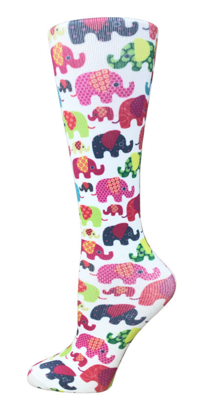 Elephants Knee High Compression Socks - 10-18mmHg Knit - Harmony Surgical Designs
