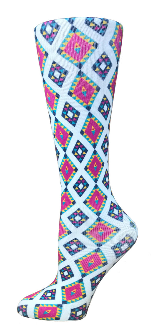 Aztec Knee High Compression Socks - 10-18mmHg Knit