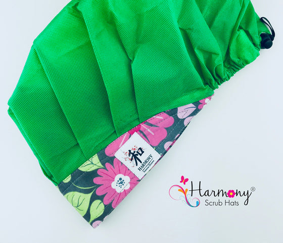 Green Disposable Houdini Bouffant™ Scrub Hat