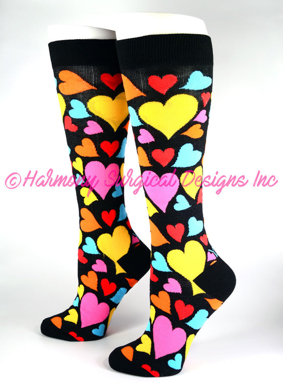 Hearts Knee High Socks
