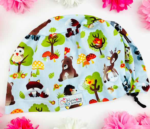 Lil Critters Button Scrub Hat