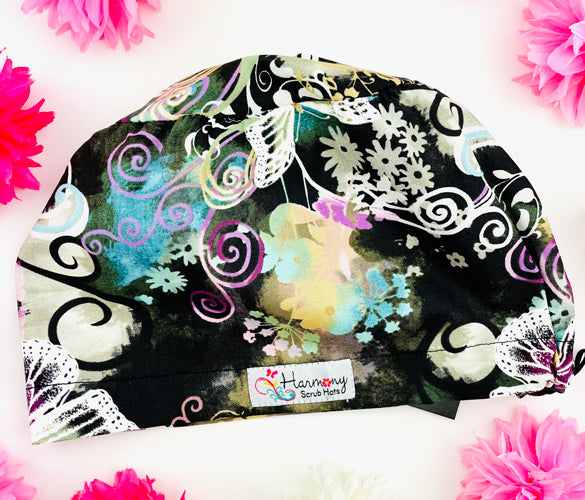 Floral Dreams EURO® Scrub Hat