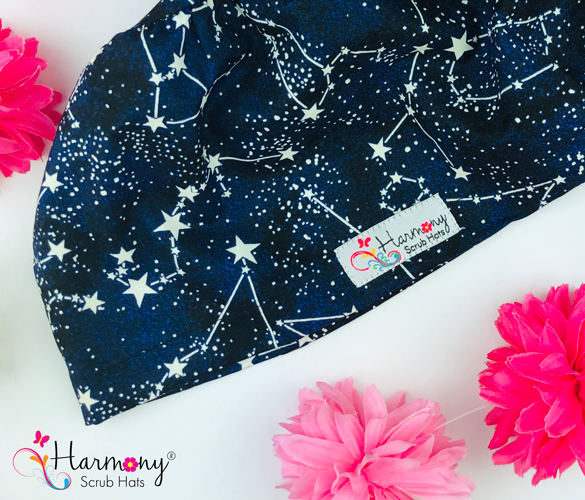 Glow In The Dark Constellations EURO® Scrub Hat