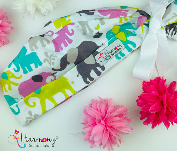 Elephants Modern Pony™ Scrub Hat