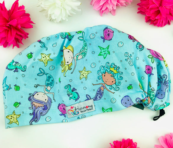 Little Mermaids EURO® Scrub Hat