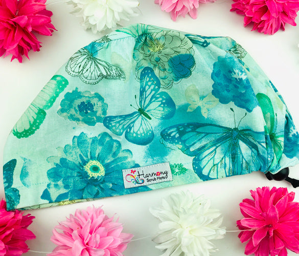 Painted Butterflies EURO® Scrub Hat