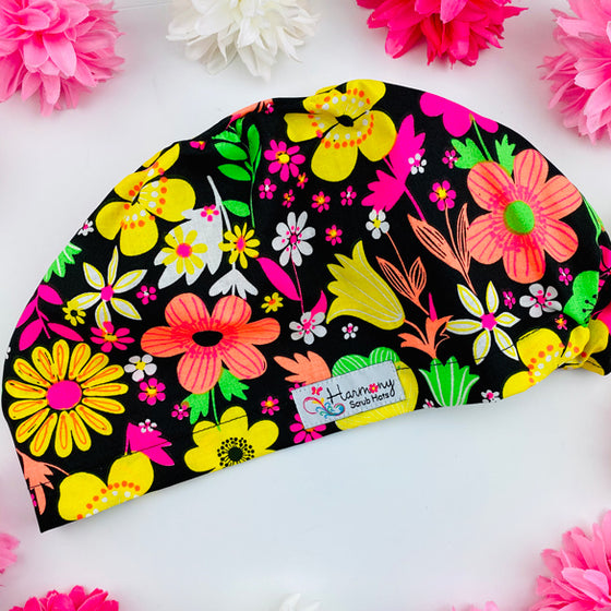Highlighter floral EURO® Scrub Hat