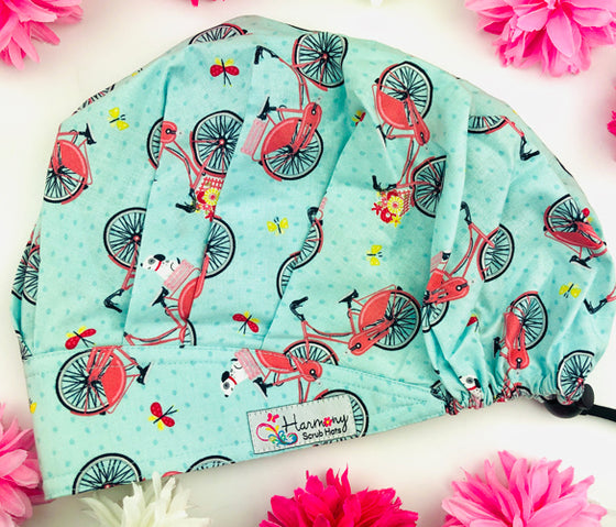 Bike Ride Modern Bouffant™ Scrub Hat