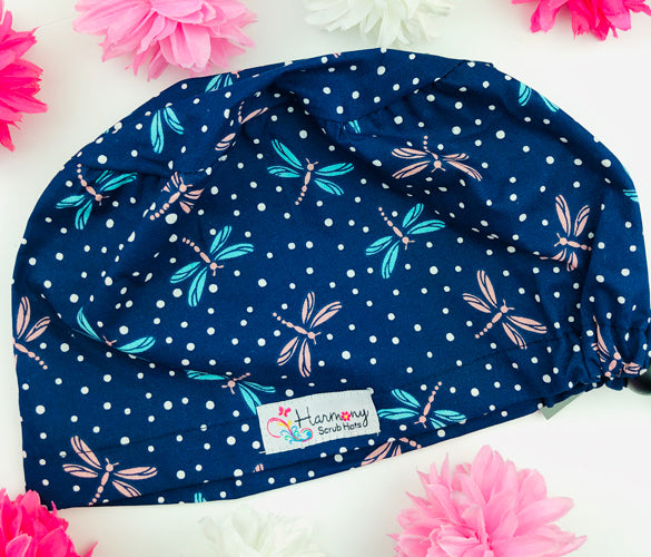Mini Dragonflies EURO® Scrub Hat