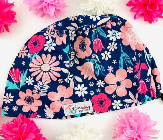 Floral Bliss EURO® Scrub Hat