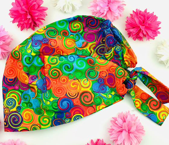 Colorful Swirls Florence™ Scrub Hat