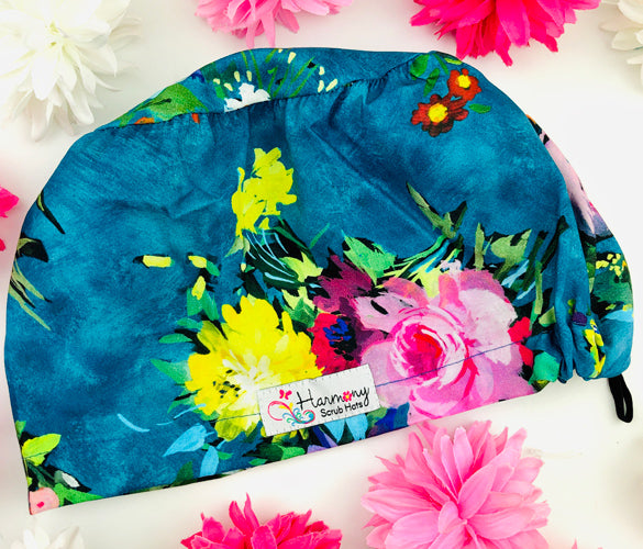 Painted Floral EURO® Scrub Hat