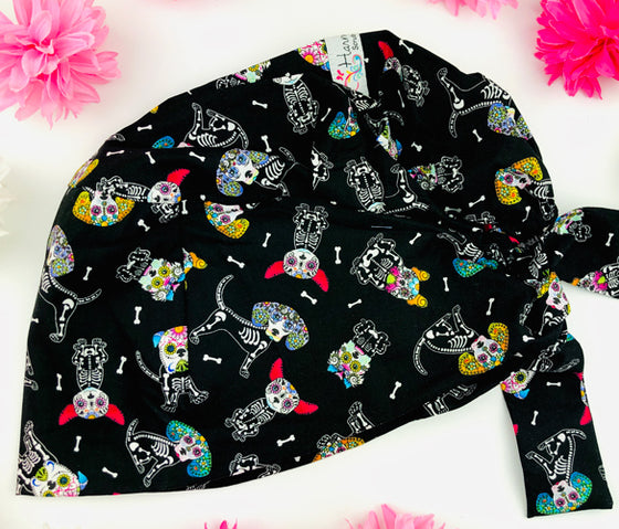 Animal Sugar Skulls Florence™ Scrub Hat