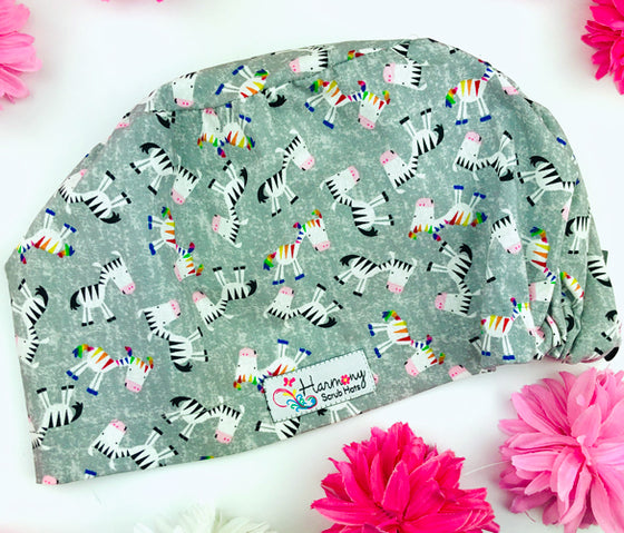 Colorful Zebra EURO® Scrub Hat