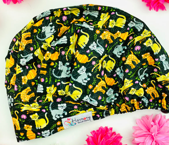 Glitter Kitties Modern Bouffant™ Scrub Hat