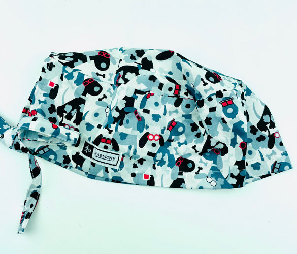 3D Mutts Mens Scrub Hat