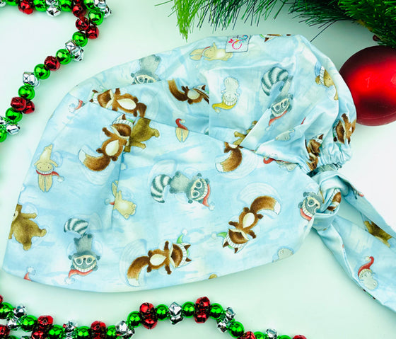 CHRISTMAS Snow Fall Critters Florence™ Scrub Hat