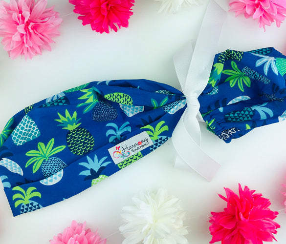 Pineapple Blooms Modern Pony™ Scrub Hat MP26
