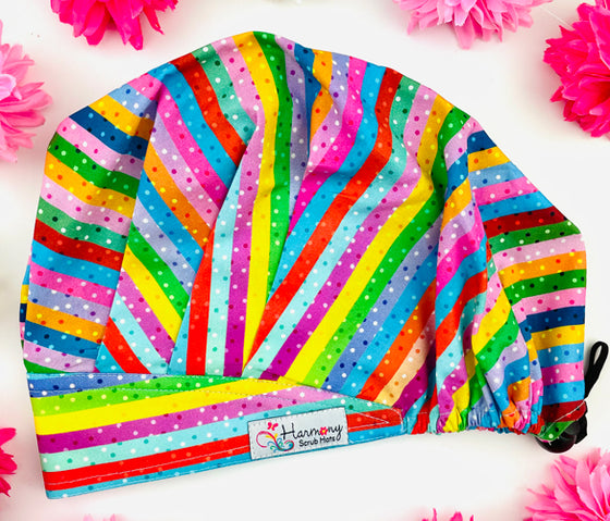 Boardwalk Taffy Modern Bouffant™ Scrub Hat