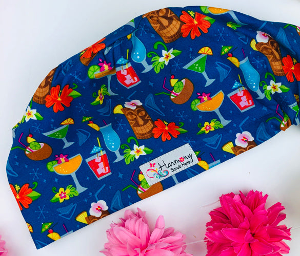 Tiki Party EURO® Scrub Hat E107
