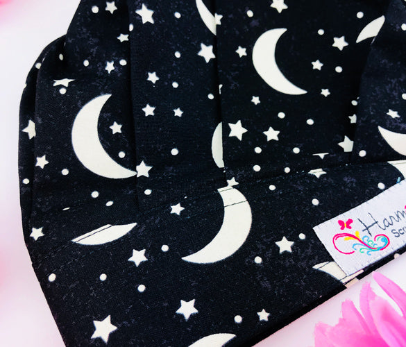 GLOW IN THE DARK Moon Modern Bouffant™ Scrub Hat MB66