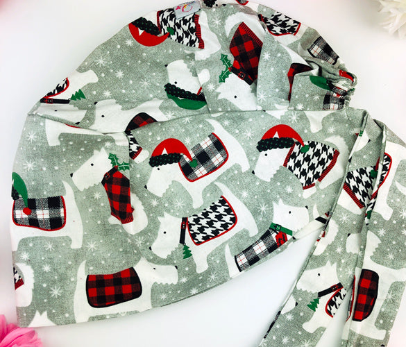 Holiday Mutts Florence™ Scrub Hat - Harmony Surgical Designs