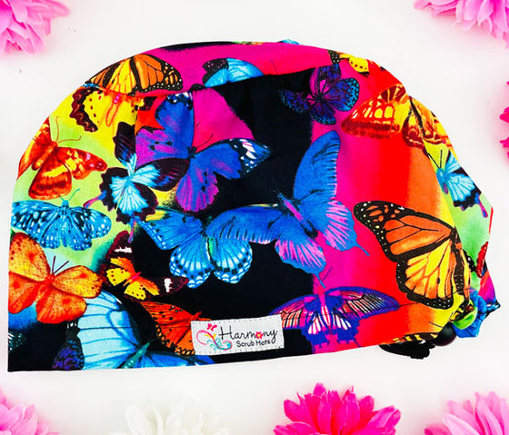 Bright Butterflies EURO® Scrub Hat
