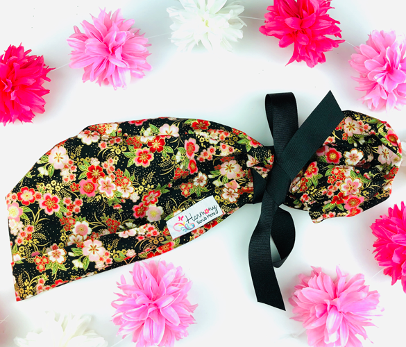 Flower Power Modern Pony™ Scrub Hat