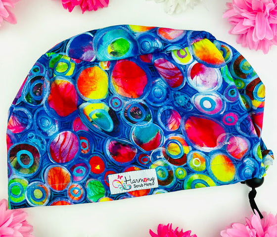 Colorful Dreams Button Scrub Hat