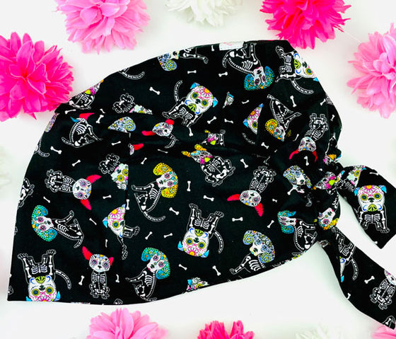 Sugar Skull Mutts Florence™ Scrub Hat