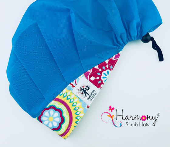 Light Blue Disposable Houdini Bouffant™ Scrub Hat