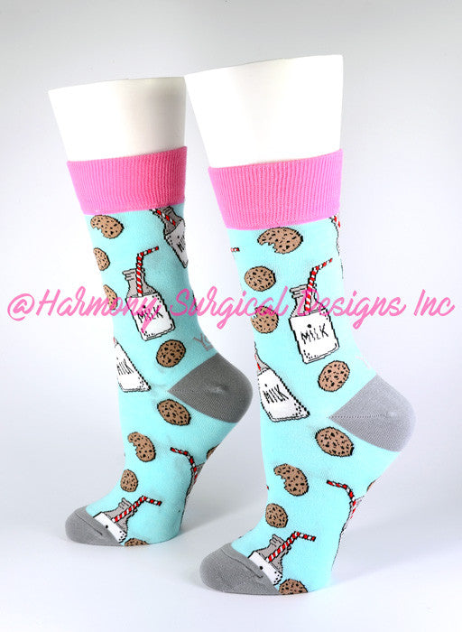 Milk N Cookies Crew Socks