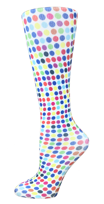 Polka Dot Knee High Compression Socks - 10-18mmHg Knit - Harmony Surgical Designs