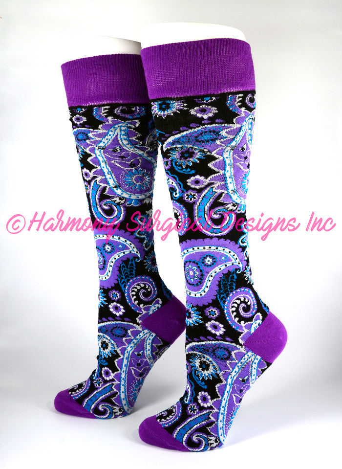 Paisley Knee High Socks