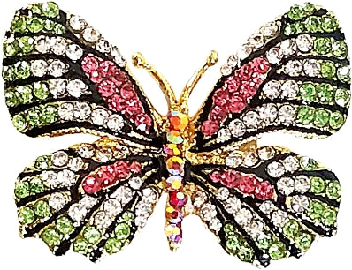 Butterfly Sparkling Badge Pull
