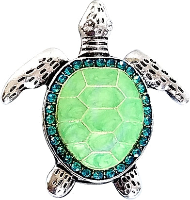 Sea Turtle Sparkling Badge Pull