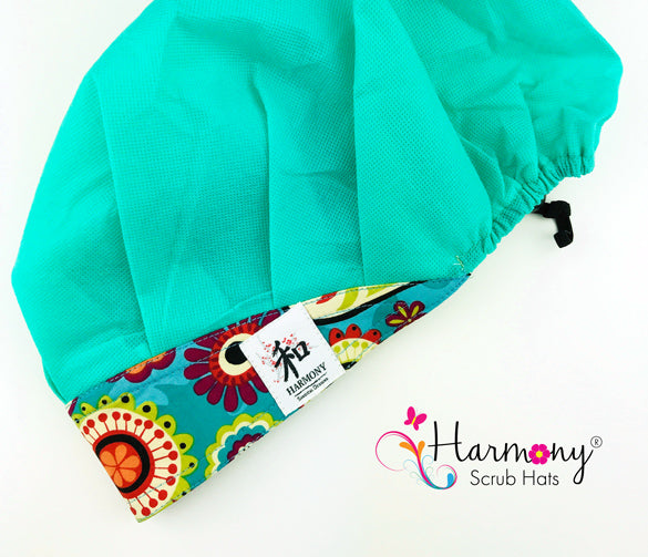 Teal Disposable Houdini Bouffant™ Scrub Hat