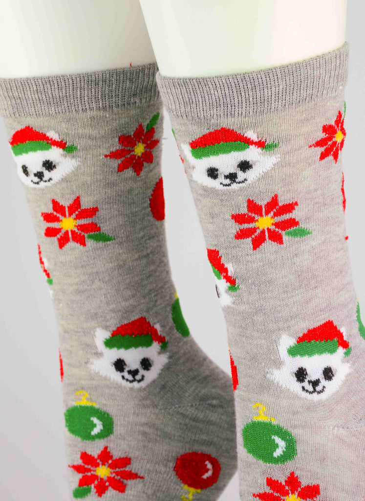 Kittens Christmas Crew Socks