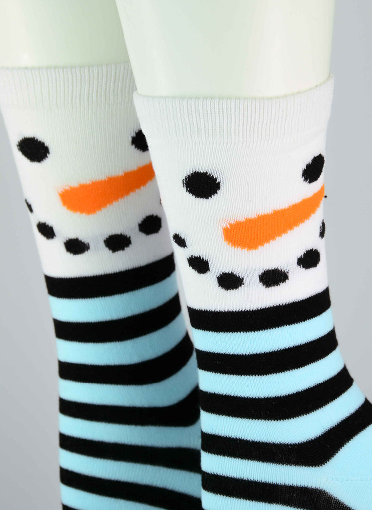 Mr. Snowman Christmas Crew Socks