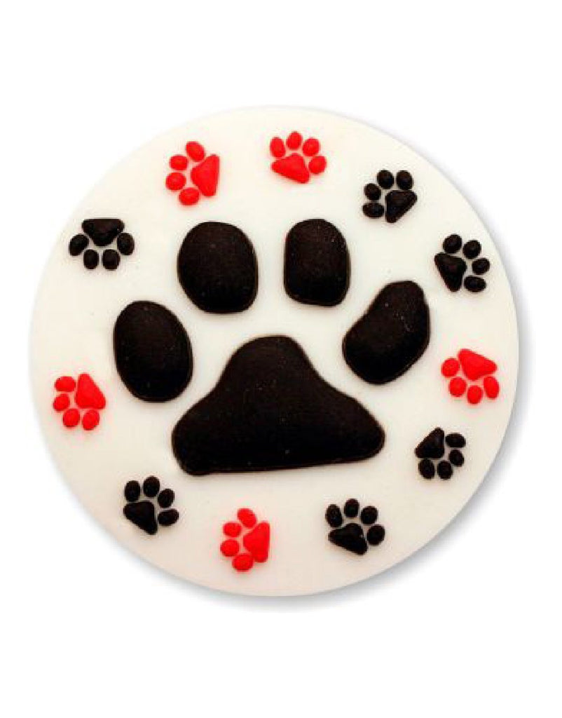 Paw Prints Badge Pull