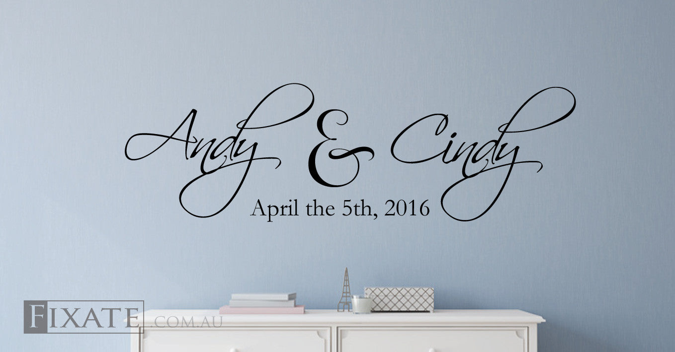 Custom Wedding Wall Decals